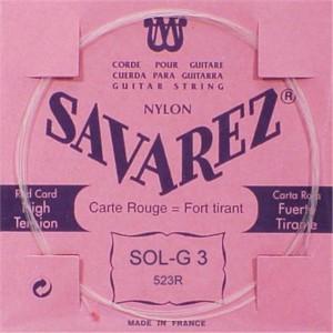 3ª CUERDA SAVAREZ 523-R Carta Roja (SOL)