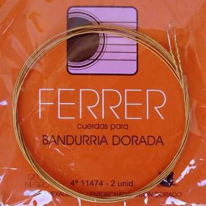 CUERDAS GATO NEGRO - FERRER Cuarta bandurria dorada (2 Uds)