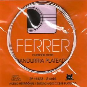 CUERDAS GATO NEGRO - FERRER Tercera bandurria acero (2 Uds)