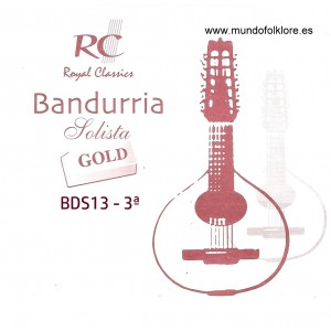 CUERDAS RC SOLISTA GOLD BDS13 Tercera Bandurria (2 Uds)