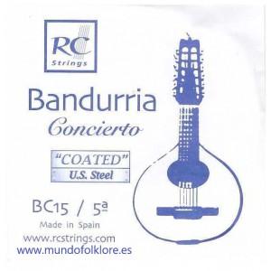 CUERDAS ROYAL CLASSICS - CONCIERTO BC15 Quinta Bandurria (2 Uds)