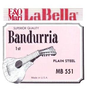 CUERDAS LA BELLA Primera Bandurria 0.10 (2 unidades).