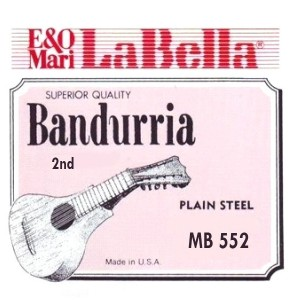 CUERDAS LA BELLA Segunda Bandurria 0.14 (2 Uds).