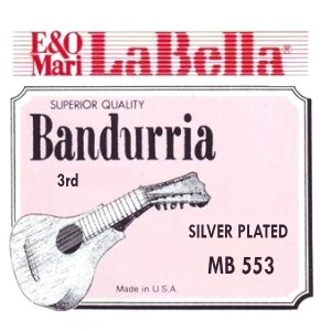 CUERDAS LA BELLA Tercera Bandurria 0.19 (2 Uds).