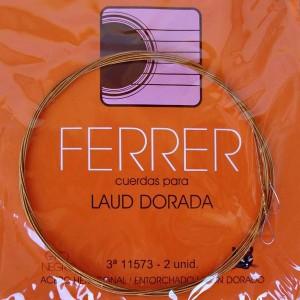 CUERDAS LAUD GATO NEGRO - FERRER Tercera dorada (2 uds)