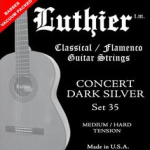 JUEGO CUERDAS LUTHIER 35 concert dark silver