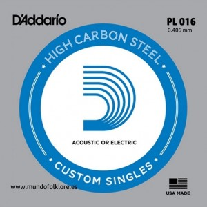 CUERDA LAUD D´ADDARIO PL 016 - Segunda (2 uds)