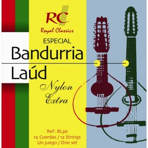 JUEGO CUERDAS NYLON EXTRA BANDURRIA - LAUD ROYAL CLASSICS