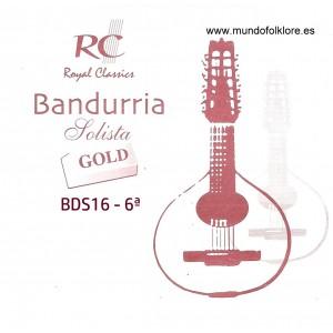 CUERDAS RC SOLISTA GOLD BDS16 Sexta Bandurria (2 Uds)